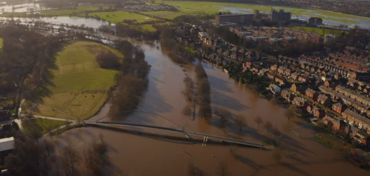 Watch: Dramatic drone footage shows York flooding from the air