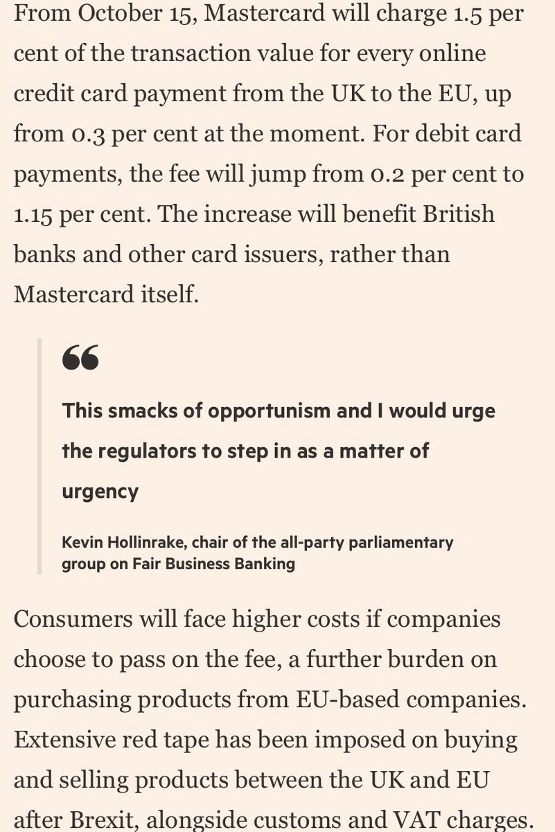 +UPDATE+ UK credit card payments will now - thanks to Brexit - be freed from EU minimum charges rules. Feel that gorgeous sovereignty pumping through our veins.