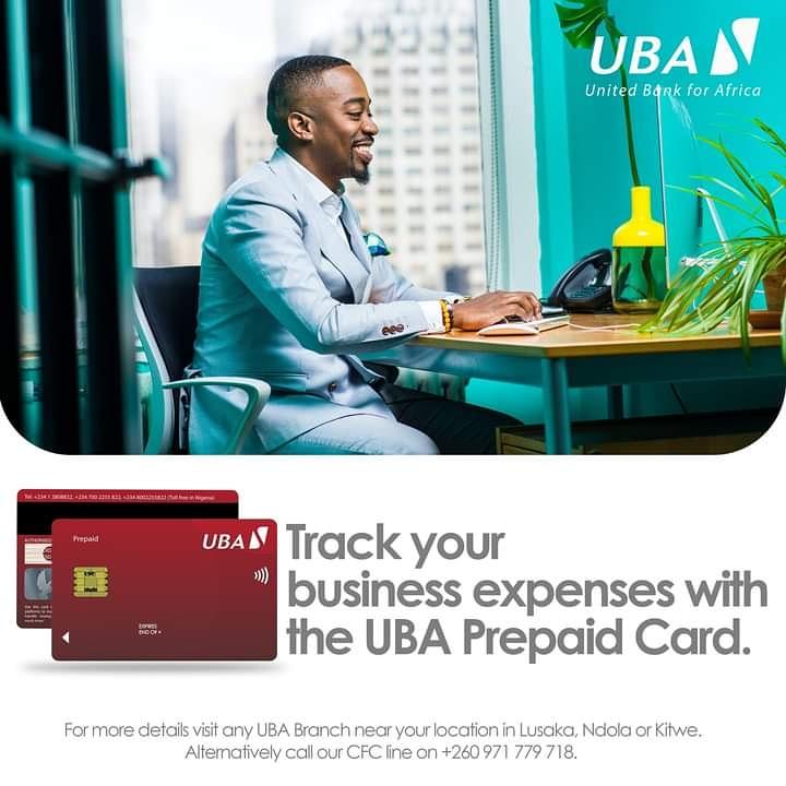 Track your business expenses with the UBA Prepaid Card Via  #UBAPrepaidCard #AfricasGlobalBank #UBAZambia