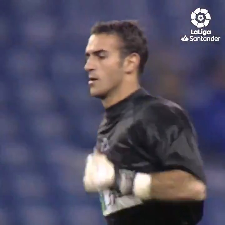 #OnThisDay in 2000, Toni Prats became the first goalkeeper to score a free-kick at the Santiago Bernabeu in #LaLigaHistory! 🔙💚  #LaLigaSantander