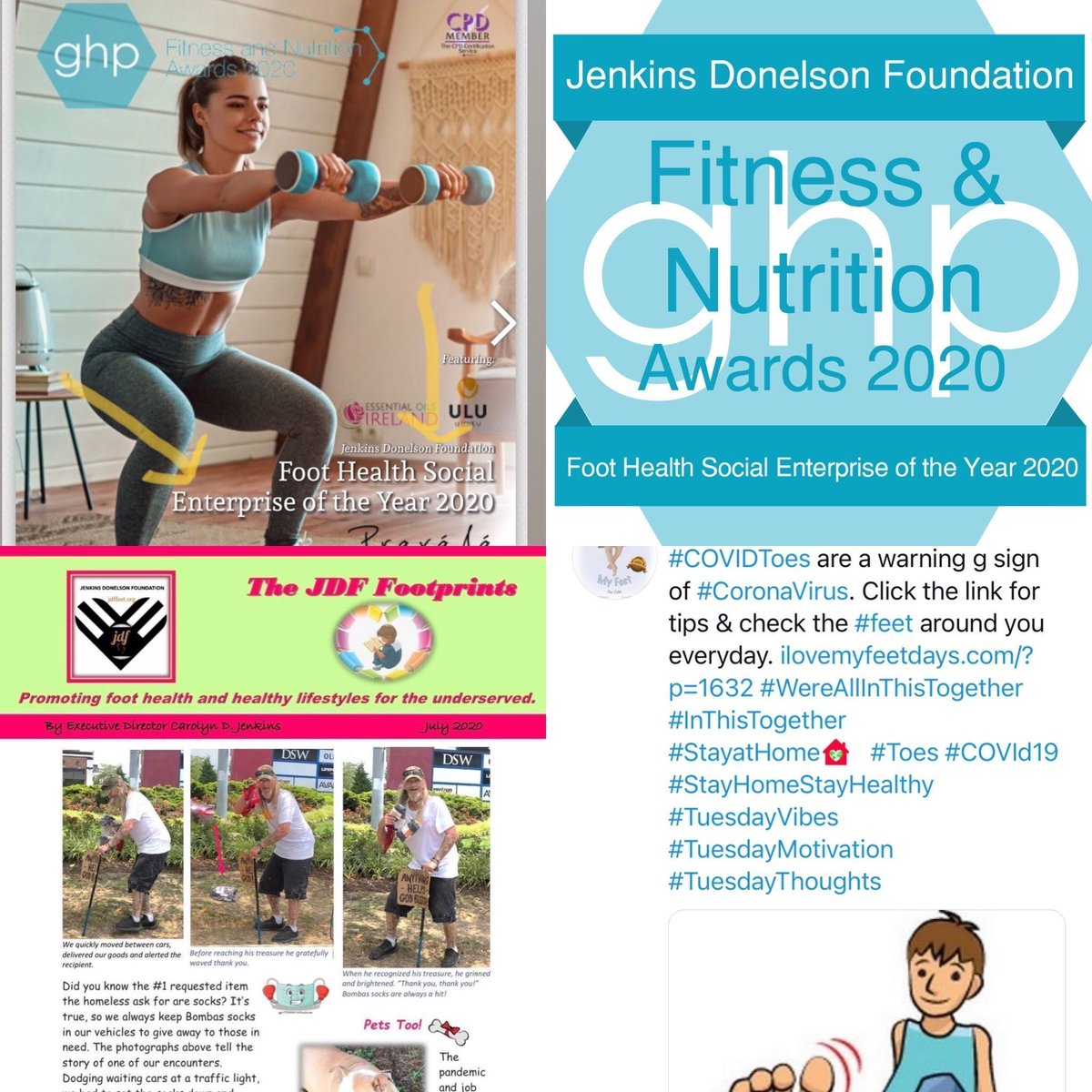 TheJDF is the 2020 Fitness & Nutrition Foot Health Social Enterprise of the Year for our commitment to keep people & feet healthy during COVID19. Our volunteers ROCK! Read more at  #MondayMorning #MondayMotivation #MondayThoughts #MondayVibes