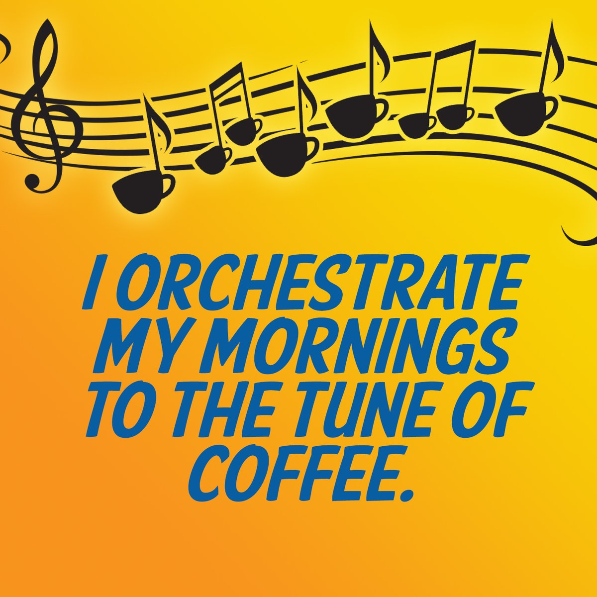 Welcome to Monday! You are in control and must start your day with the right music, the music of coffee pouring into your cup, and the sweet sound of the machine beeping, telling you that your cup is ready.  #JavaJunky #MondayMorning