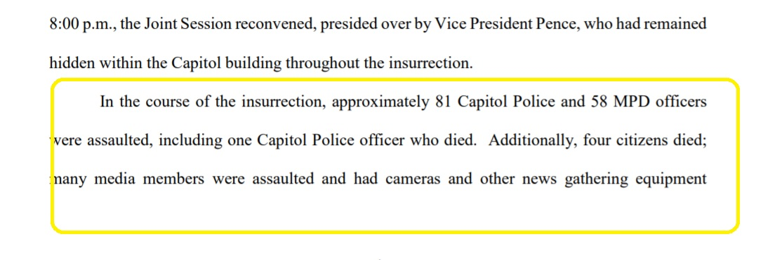 NEW:   US Justice Dept court filing says 81 US Capitol Police officers and 58 DC Police officers are injured from the US Capitol Insurrection on Jan 6