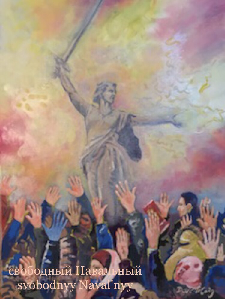 My latest painting has a simple message, Free Navalny   свободный Навальный svobodnyy Naval'nyy  #Navalny #AlexeiNavalny #RussianProtests #MorningJoe #MondayMotivation
