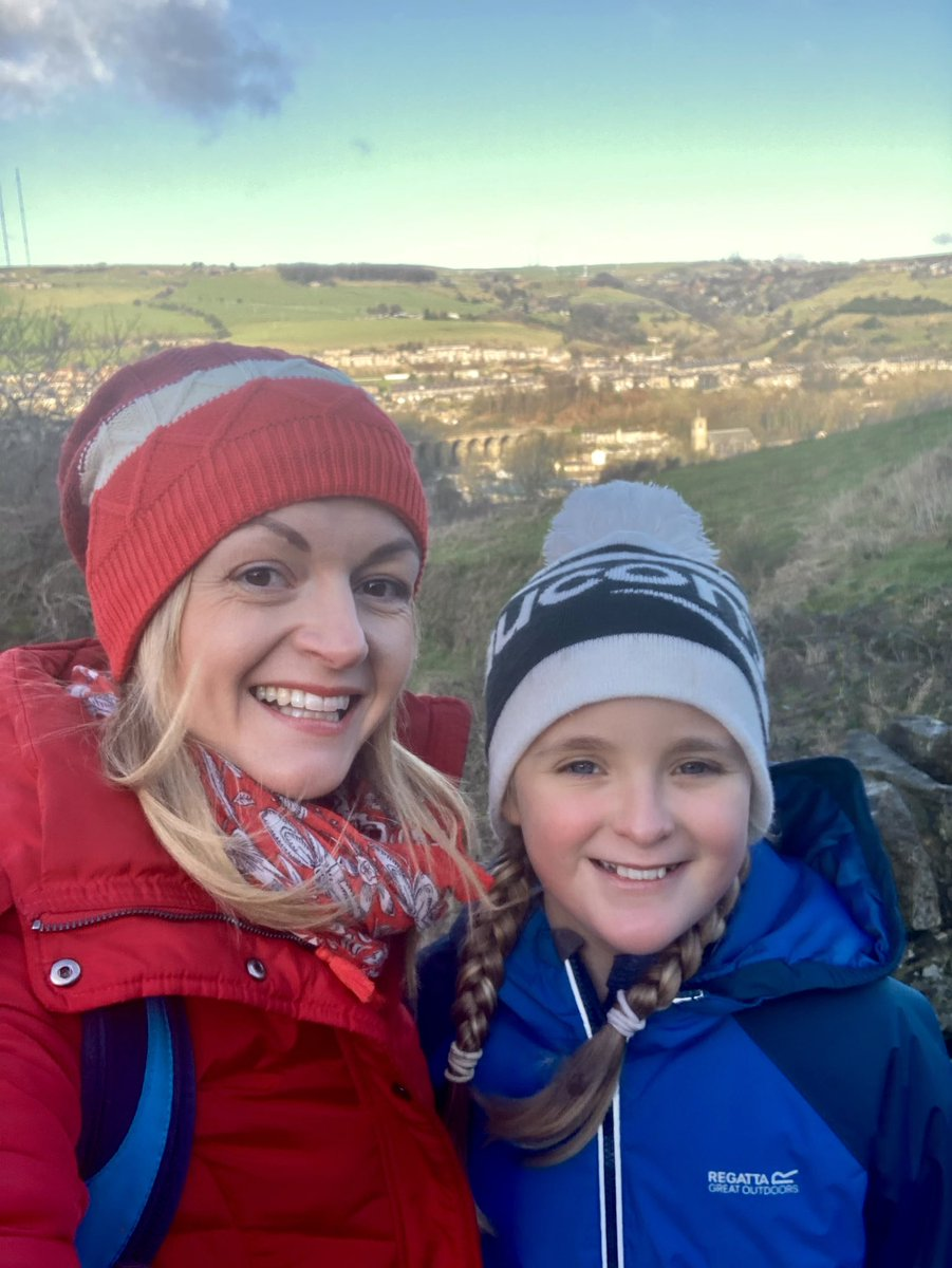 It's baltic outside 🥶🧊but that didn't stop us taking our lunch to a bench high on the hillside. 🥙🥾A most welcome break from homeschool. 🤗🏫 #homeschooling #MondayVibes #MentalHealth #walkshire #wellbeing #yorkshire #Monday
