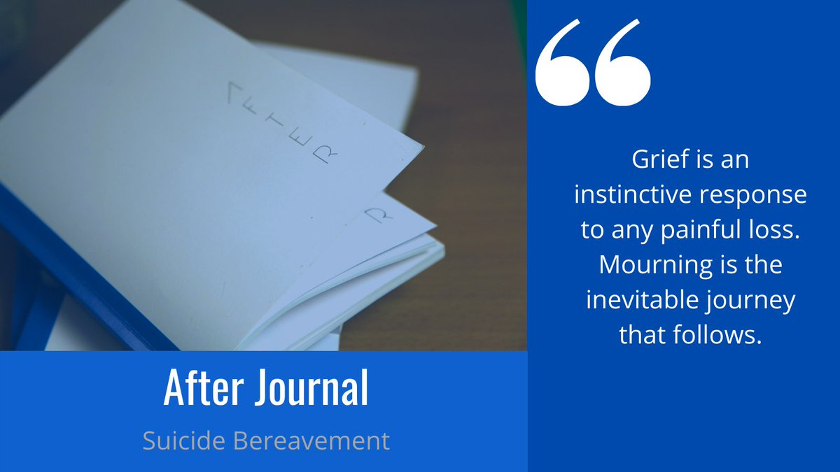 Why the blue After Journal? It's helping those facing a suicide bereavement, especially in isolation. Every book purchased ensures the creation of another book. To find out more, visit  #bereavement