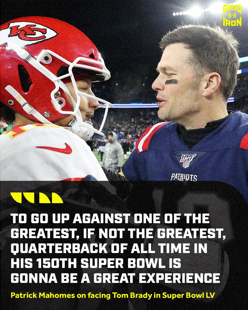 Replying to @brgridiron: We really get @PatrickMahomes vs. @TomBrady in the Super Bowl.  Can't ask for more.