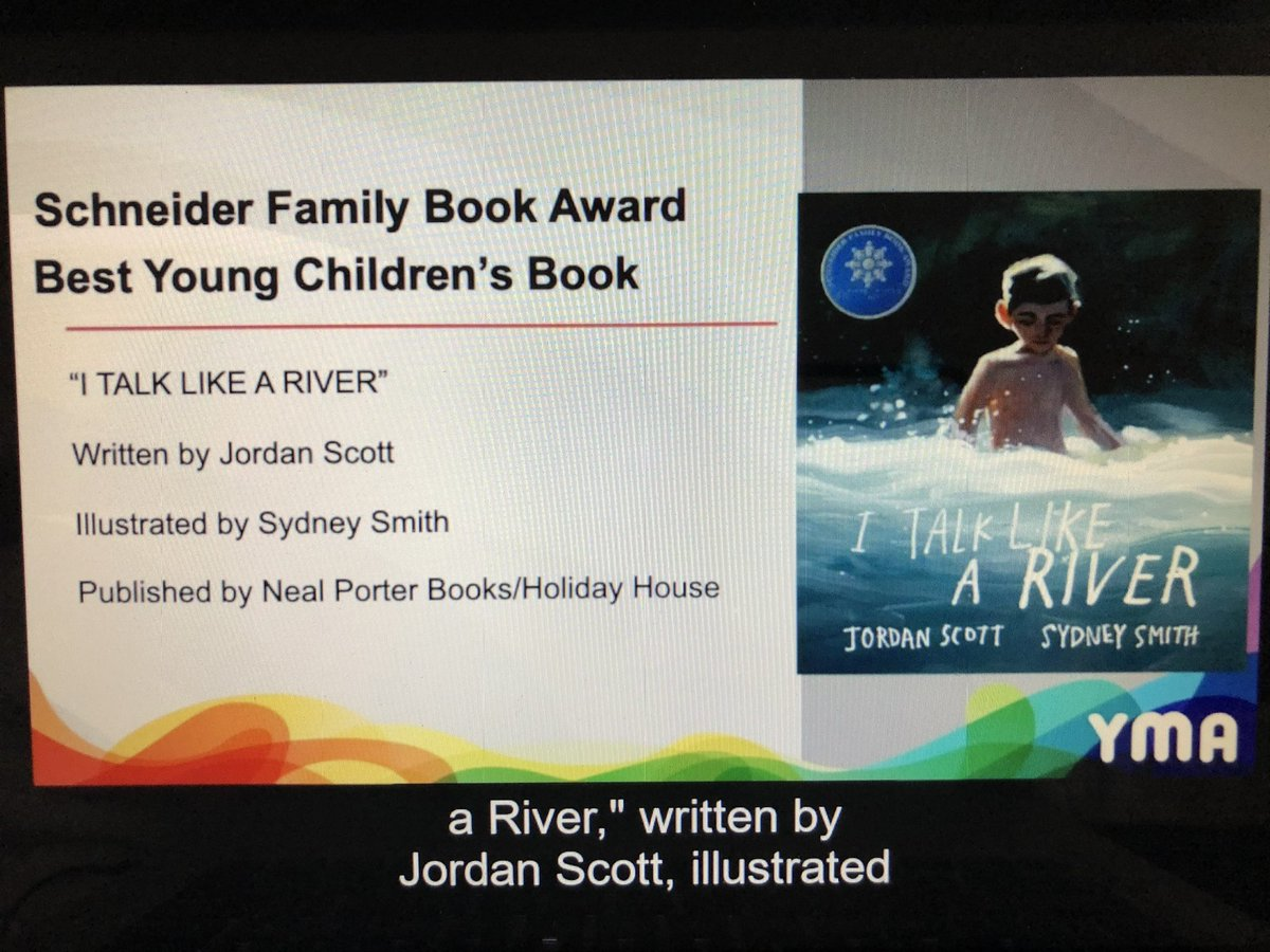 SCHNEIDER FAMILY BOOK AWARDS!!!  @jscottwrites I looooove this book so much!  #alayma21 #alayma
