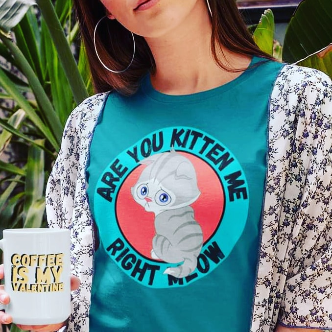 Are you Kitten Me Right Meow? You Can Own This ↙️GET IT!    #kittens #CatsOfTwitter #cats #mondaythoughts #MondayMotivation #RBandME #redbubble