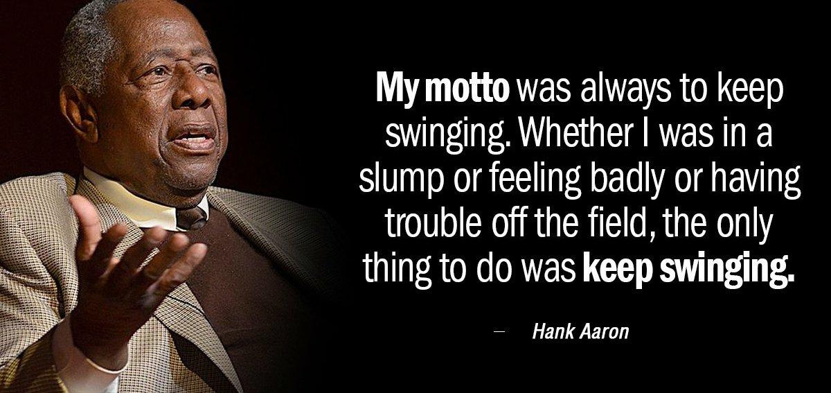 #MondayMotivation Keep swinging everyone!