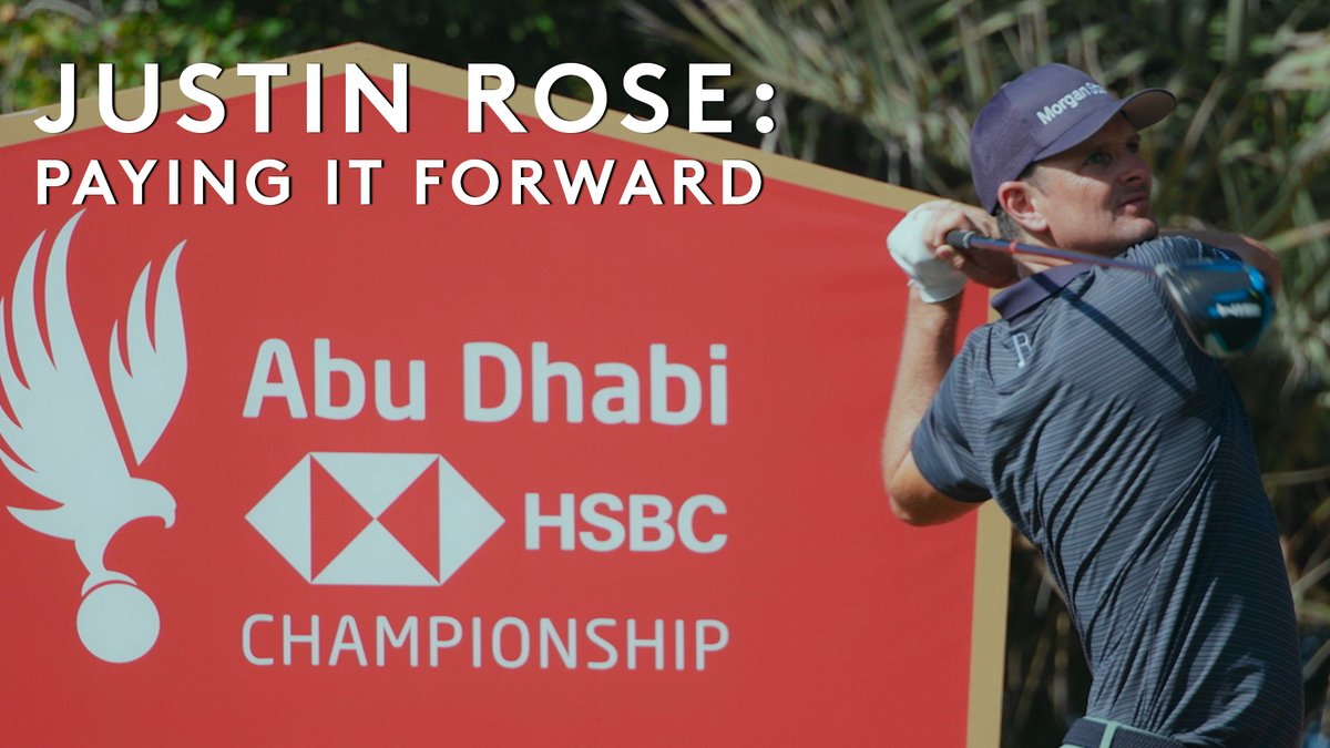 Replying to @EuropeanTour: Paying It Forward with @JustinRose99 🏌🏼‍♀‍  @HSBC_Sport | #ADGolfChamps