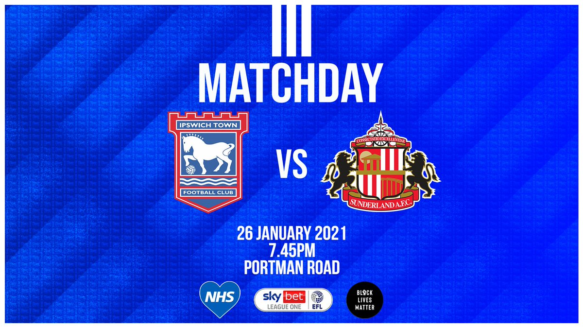 🏠 MATCHDAY  It's the Blues vs the Black Cats at Portman Road this evening.   📺 Watch live on Sky Sports or on iFollow Ipswich for season ticket holders.  COYB | #itfc