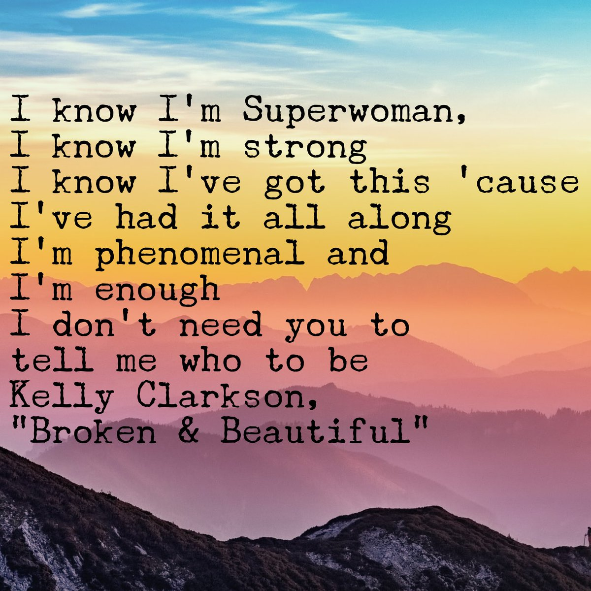 #quoteoftheday  Good morning! Here's another I listen to when I need a boost! I sing it at the top of my lungs & before I know it, I'm pumped. Do u have a power anthem u listen to? Share with us!  #quote #MondayMorning #MondayVibes #mentalhealth #WhyIShare #WeMatterToo