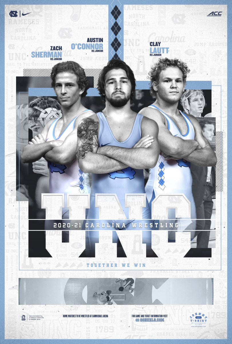 Want a copy of our 2020-21 UNC Wrestling poster?   Check them out HERE:   #GoHeels | #WeWantMore