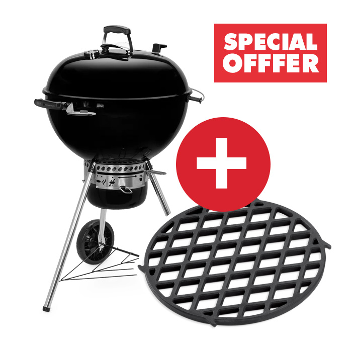 🔥 Weber special offers - Buy a Weber Master-Touch Charcoal Grill and get a FREE GBS Sear Grate!  #weber #bbq #outdoors #outdoorliving #grill #smoker #charcoal #meateater #meat #brisket #pulledpork #steak #beef #pork #webergrill #weberkettle #weberdealss