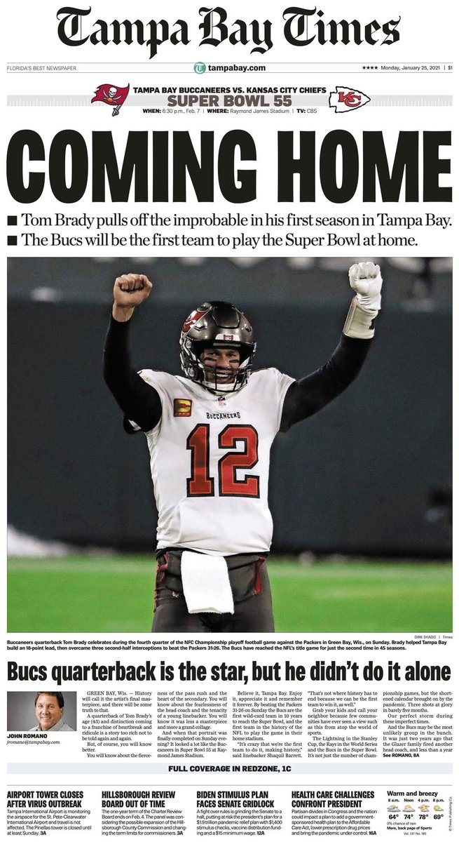 The front page of today's @TB_Times: