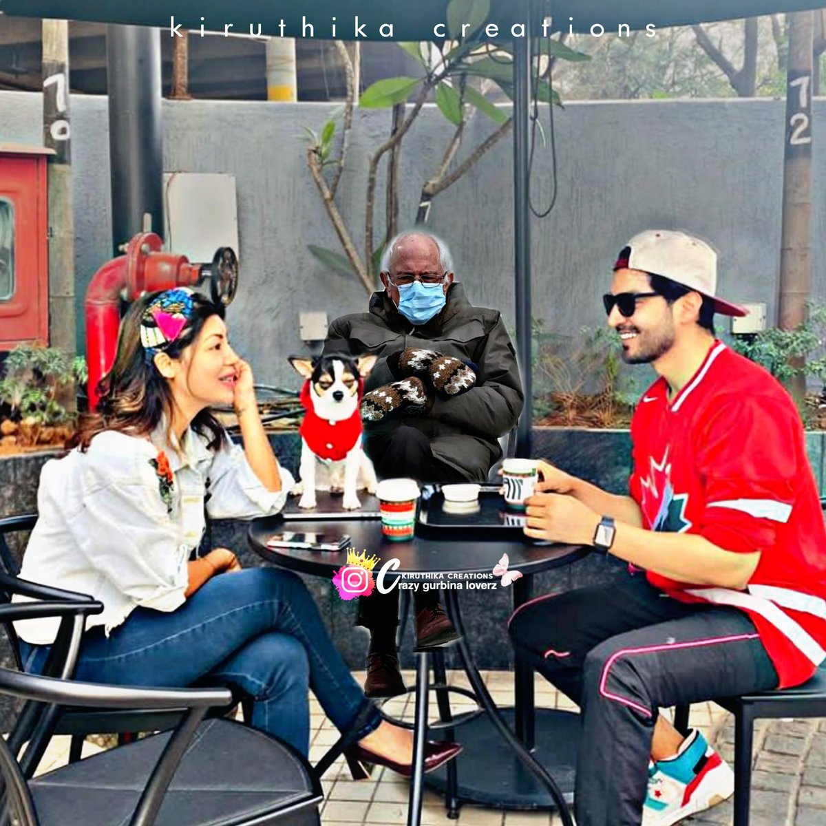 So simply going with the trend why to miss it !! My Power couple having coffee with #BernieSanders ❤️😍 @gurruchoudhary @imdebina #Gurmeetchoudhary #Debinabonnerjee #GurBina https://t.co/whQA09TgR6