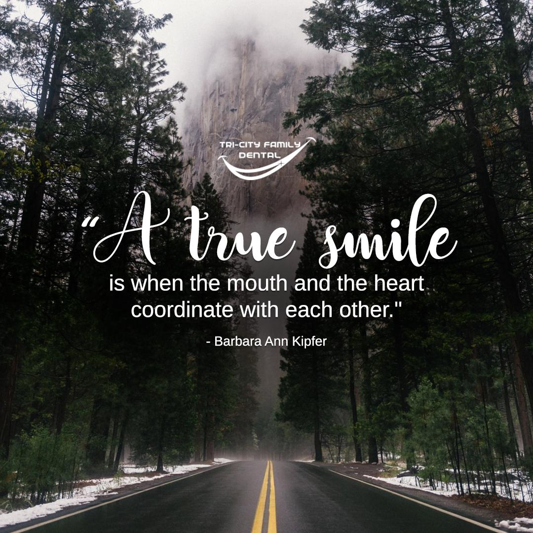 """A true smile is when the mouth and the heart coordinate with each other.""  - Barbara Ann Kipfer  #inspiration #motivation #smile"