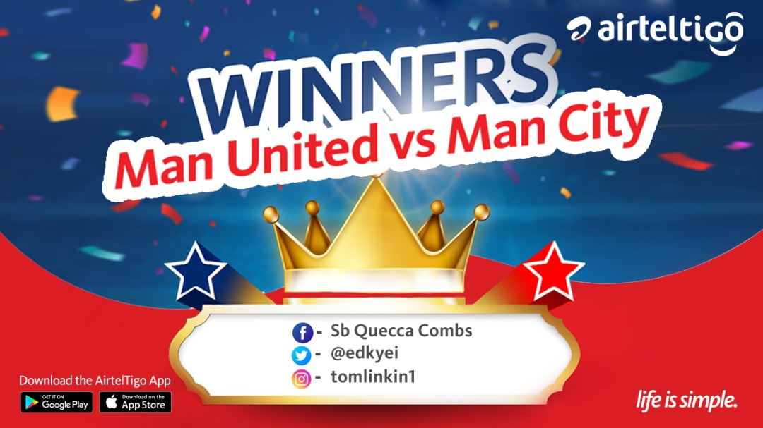 Congratulations guys for predicting correctly before the start of 2nd half.   Kindly DM us for your rewards.  #AirtelTigoMatchday #LifeIsSimple #LIVMUN #MUNMCI