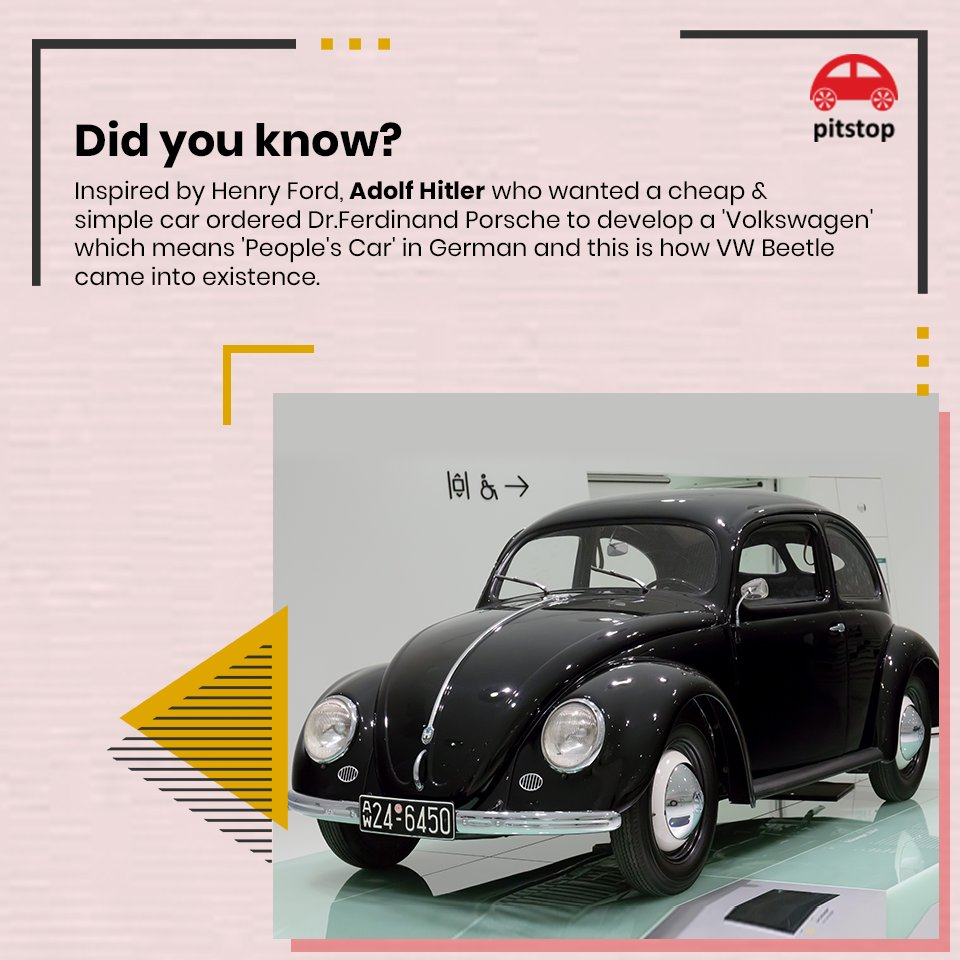 #DidYouKnow This iconic car has been in production from 1938 till 2003 between which 21,529,464 units of VW Beetles were built.🚗  #Facts #knowledge #Volkswagen #Germany #beetle #mondaythoughts #DYK #Cars #LatestNews