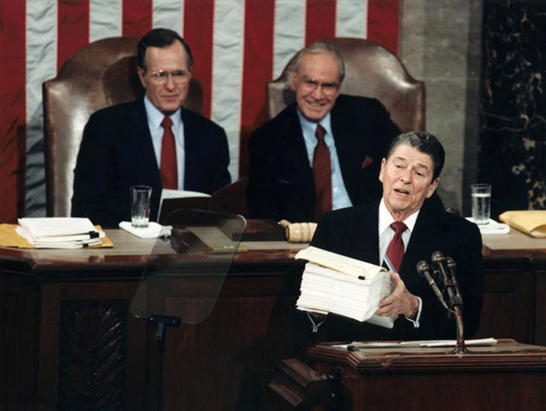 Jan 25, 1988: President Ronald Reagan delivered his final State of the Union Address. #80s