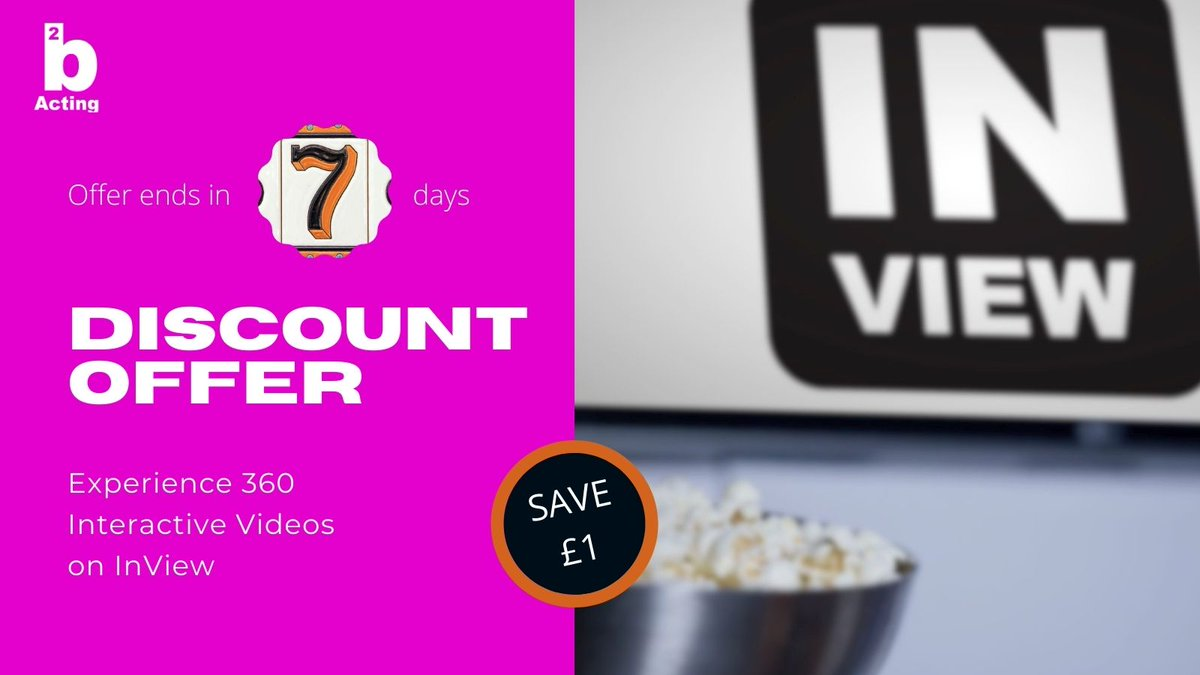 """@hp_hollowtones Offer ends in 7 days. """"DISCOUNT OFFER"""". Experience 360 Interactive Videos on InView Watch Premium #movies & #videos here >> https://t.co/XGR7hnkJAO  #2bacting #theatre #films #inview #newshows #HD #filming #stories https://t.co/bGTH90HJaT"""