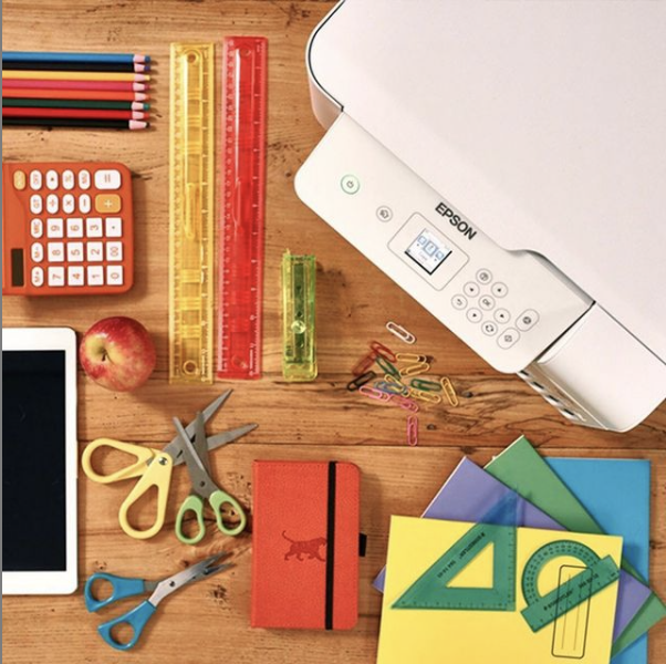 Does your learning space need a makeover? Just add color! Our EcoTank printers come with huge ink tanks so you can print in color all you want. 🍎 🌈  #colorprint #justfillandchill #learnfromhome #print #ecotank #justaddcolor #homeprint