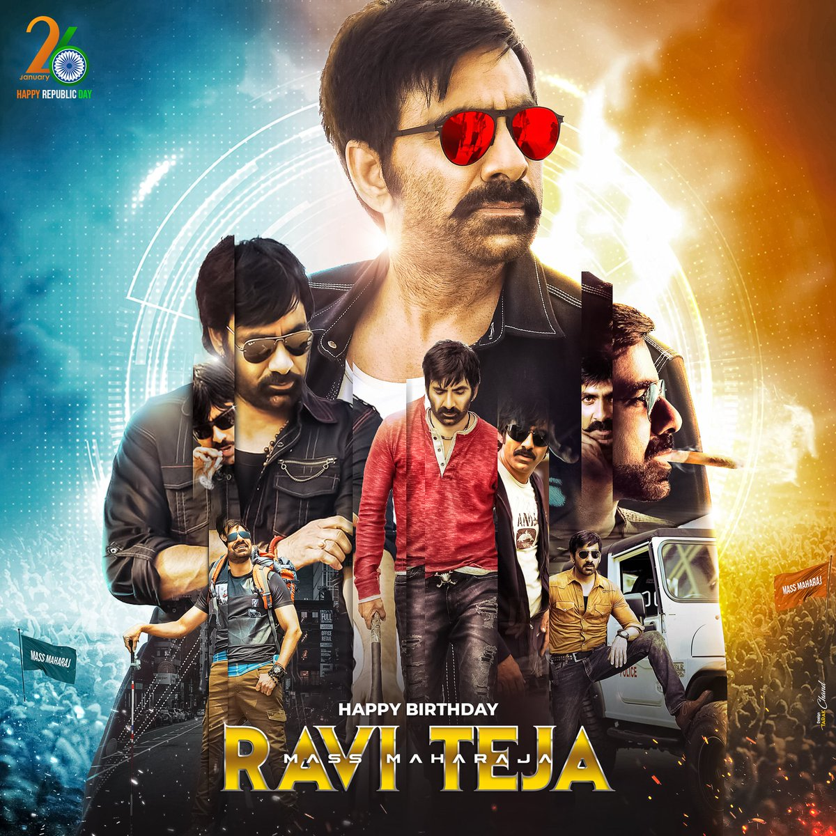 #MassMaharaja fans launch a Super Common DP to celebrate #Raviteja's Birthday on 26th Jan 2021   Are you excited to get an update on his upcoming Telugu movie #Khiladi 🔥🔥🔥  #INOX @INOXMovies