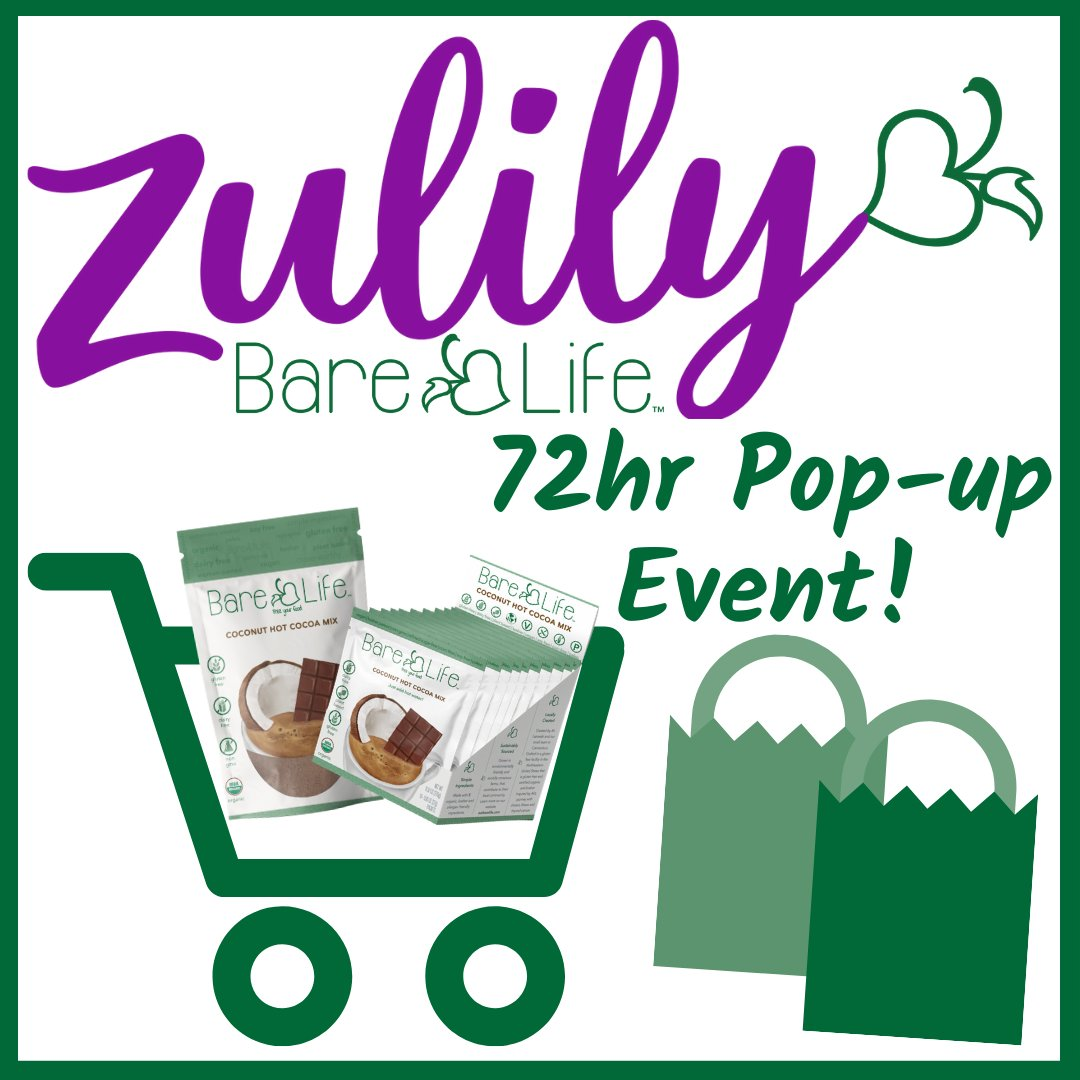 Surprise! Because we love you a whole choco-LOT, we're bringing you another @eatbarelife hot cocoa sale on @zulily! For the next 72 hours ONLY, enjoy up to 25% off our Bare Life #HotCocoa Essentials! Talk about a #SWEET deal! 🥰💚 #BareLife #FreeYourFood