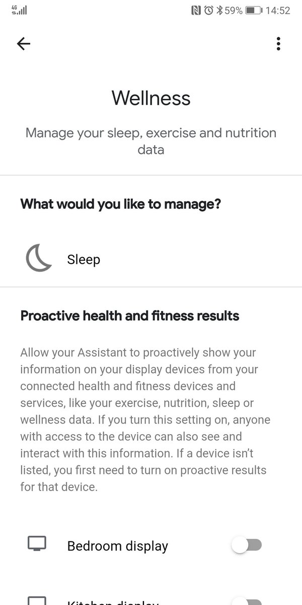 @Google @madebygoogle @googlenest Why is only Fitbit & Not Why no Google Fit available in Assistant Wellness Sleep section?  #GoogleFit #googleAssistant