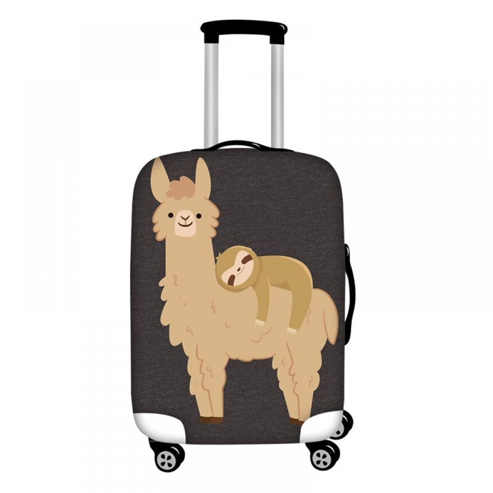 #fitness #downhill Funny Llama Travel Luggage Cover