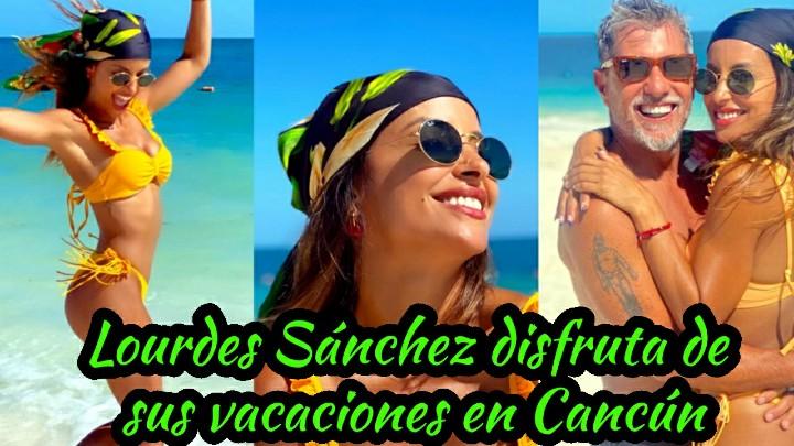 Las espectaculares vacaciones de Lourdes Sánchez y el Chato Prada en Cancún.  Mira el Video👉 https://t.co/k7gDNDlvwk  #LourdesSánchez #Cancún #Chato #espectaculares #vacaciones #playas #caribe #aventuras #FelizDomingo https://t.co/V6UXmzgTA2