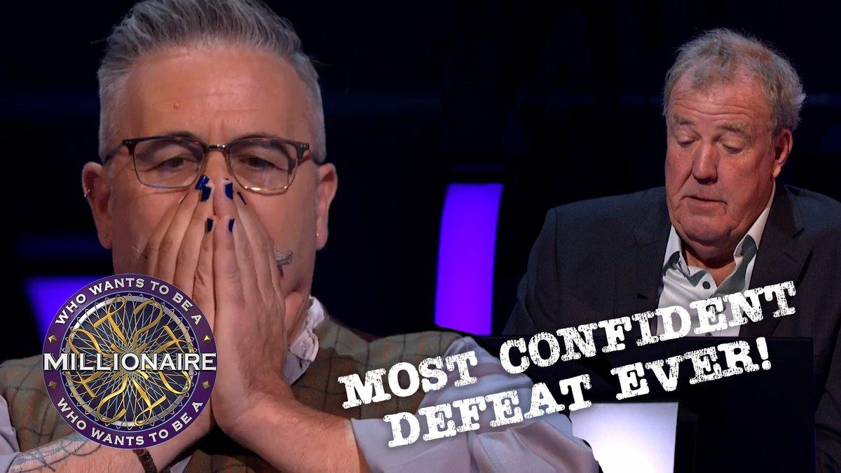 Contestant confidently gets the answer to £32,000 (his second safety net) completely wrong. Jeremy is heartbroken...  #WhoWantsToBeAMillionaire #Millionaire #JeremyClarkson #JustinBeattie #Submarine #Sports #TVQuiz #CarlLewis #GeorgeForeman #AlainProst #BjörnBorg #BjornBorg