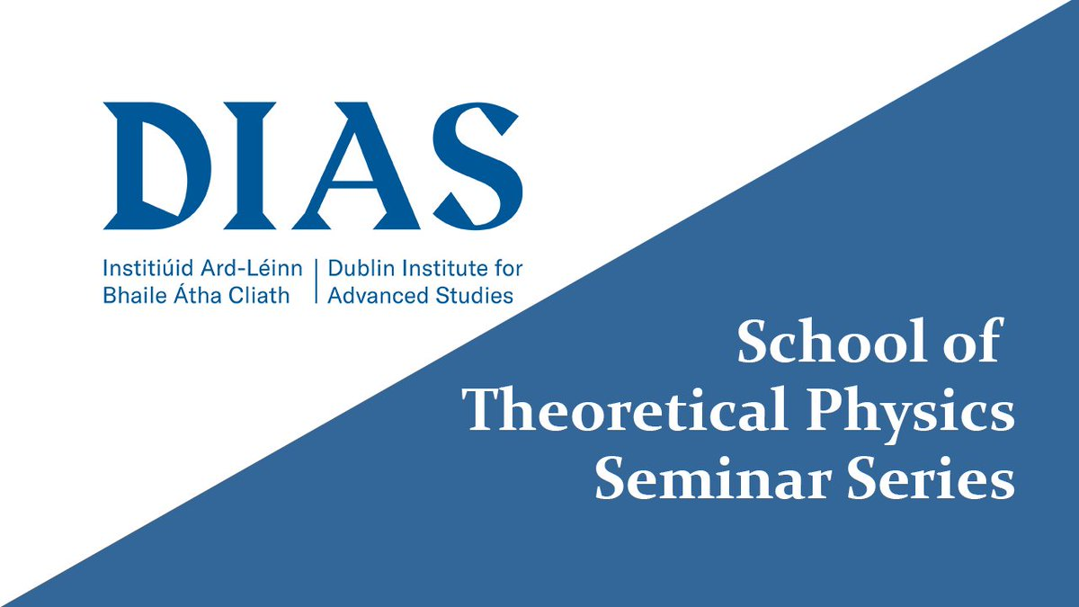 test Twitter Media - DIAS School of Theoretical Physics started recording their seminars when the pandemic began. Click to view the dedicated playlist on the DIAS YouTube Channel.  Be sure to subscribe so not to miss future recordings.   ▶️https://t.co/7riPO3eSua  #DIASdiscovers #physics #seminars https://t.co/DpCNgeaoXe