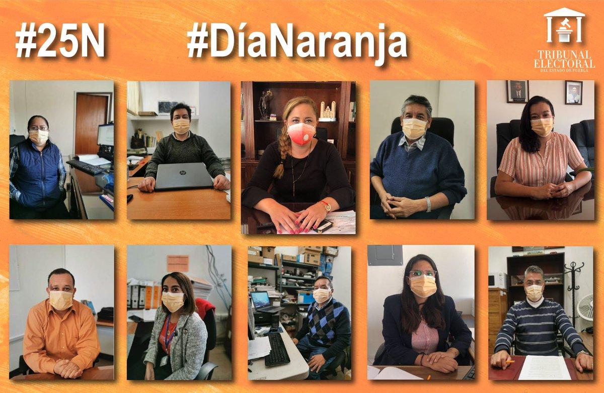 En el Tribunal Electoral del Estado de Puebla @trielecpue nos sumamos al #DíaNaranja para promover la eliminación de la violencia en contra de las #Mujeres y #Niñas  #25N