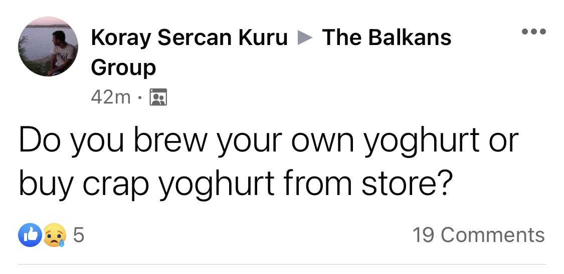 The yog(h)urt discourse is HOT over in the Balkans Group