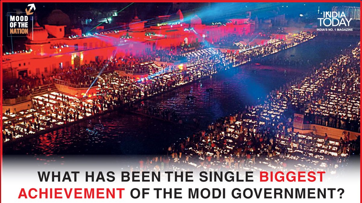 What has been the single biggest achievement of the Modi government?  To find out, click   to download the Mood Of The Nation special issue of the India Today magazine #Magazinepromo #MoodOfTheNation