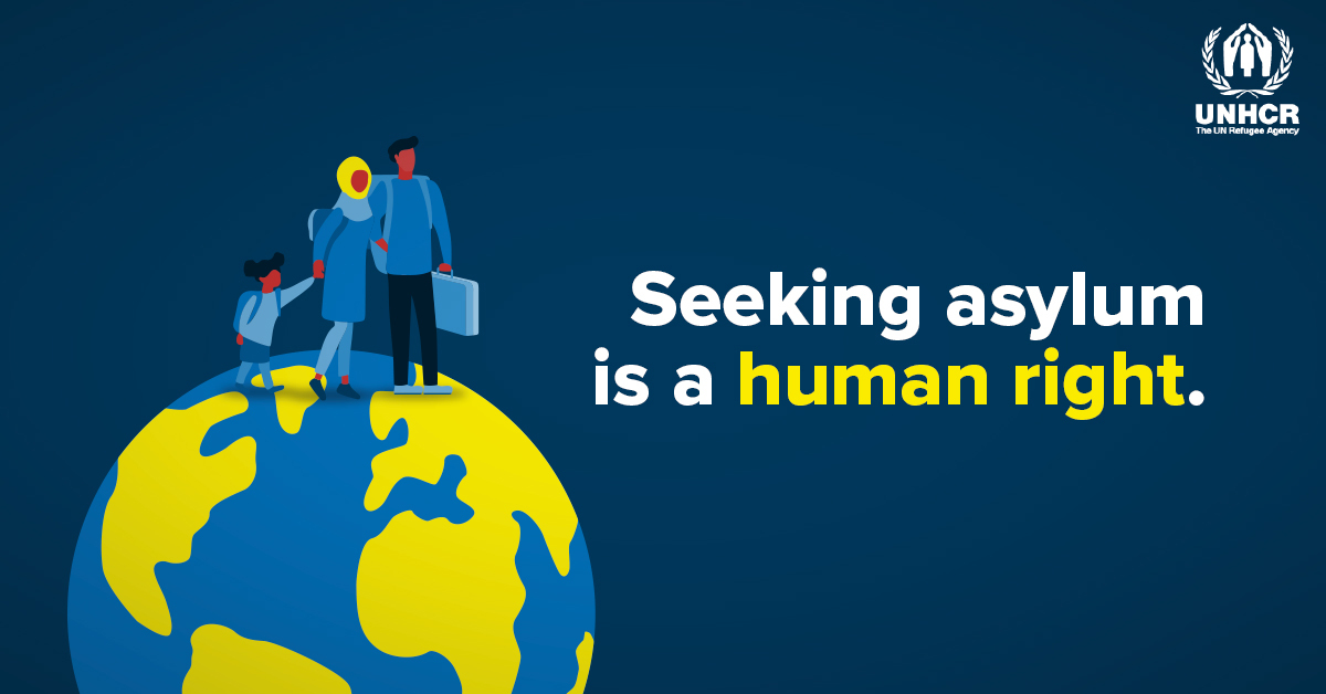 Human rights apply everywhere, all the time.   Seeking asylum is a human right. #StandUp4HumanRights