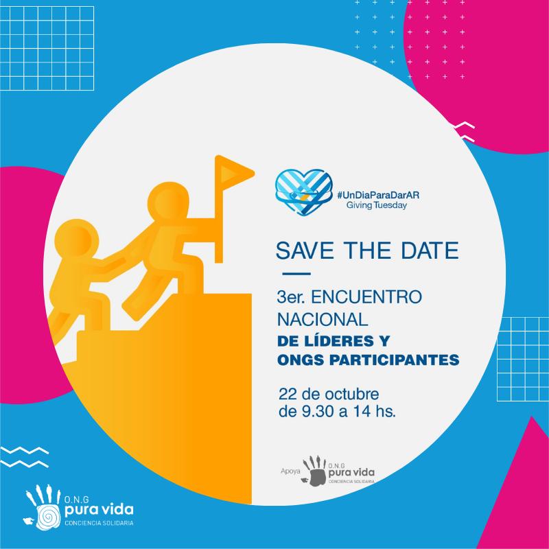Organizamos el 3er encuentro Nacional de Líderes y de ONGs Participantes. 3 jornadas +100 ONGs 50 líderes regionales 30 oradores +5 sesiones de networking +180 participantes  #Logros2020 de Pura Vida ONG en el rol de líder para AR d @UnDiaParaDarAR  #UnDiaParaDarAR #GivingTuesday