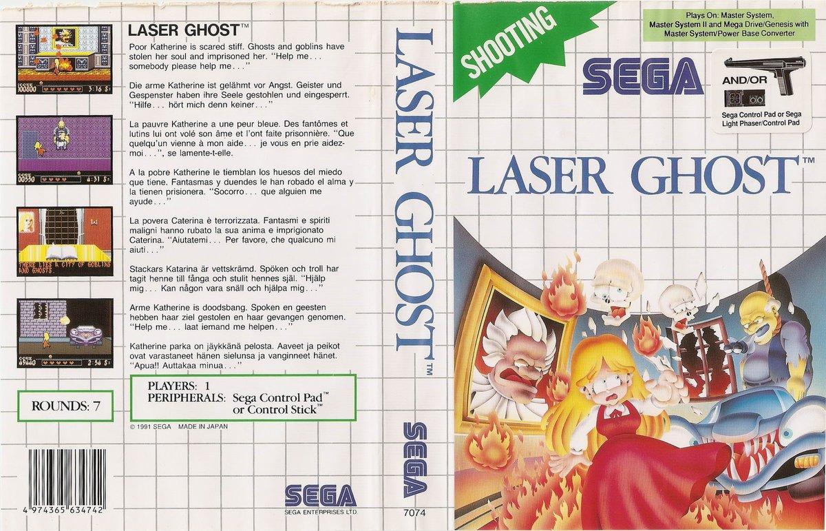 LASER GHOST - Master System, 1991, Sega. Catherine está prisionera en el sótano de White Manor y su alma ha sido robada y llevada a ciudad fantasma, depende de ti recuperarla 🏦 #MasterSystemMonday #MasterSystem #retrogaming #gaming #retrogames #videogames #videojuegos #sega