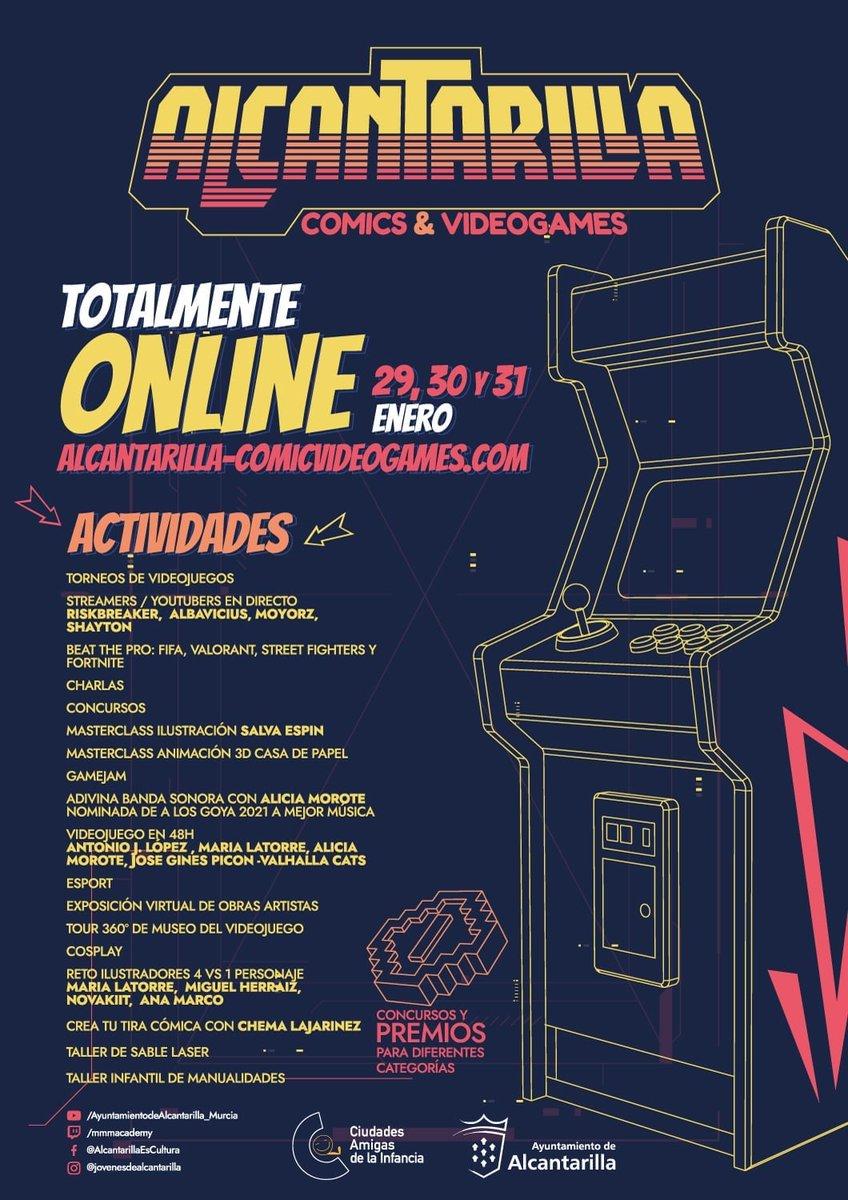 """Este fin de semana se celebra """"Alcantarilla Comic and VideoGames"""", encuentro digital sobre cómics, ilustración y #videojuegos organizado por el @AytAlcantarilla. El domingo estaremos participando para hablar de #TheGoodGamer. Más info 👉"""