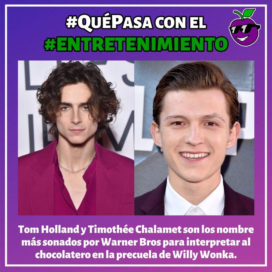 . #QuéPasa con el MUNDO 🌎 . . #Entretenimiento #Wonka #TomHolland #TimotheeChamalet #Videojuegos