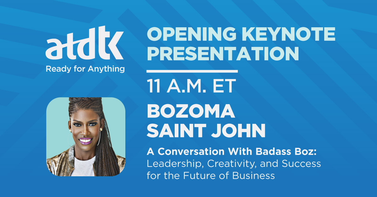 Welcome to #ATDTK!   We're excited for today's opening keynote: A Conversation with Badass Boz: Leadership, Creativity, and Success for the Future of Business!  #ATD #learningtech #instructionaldesign #eLearning https://t.co/EEQ0a4lSYj