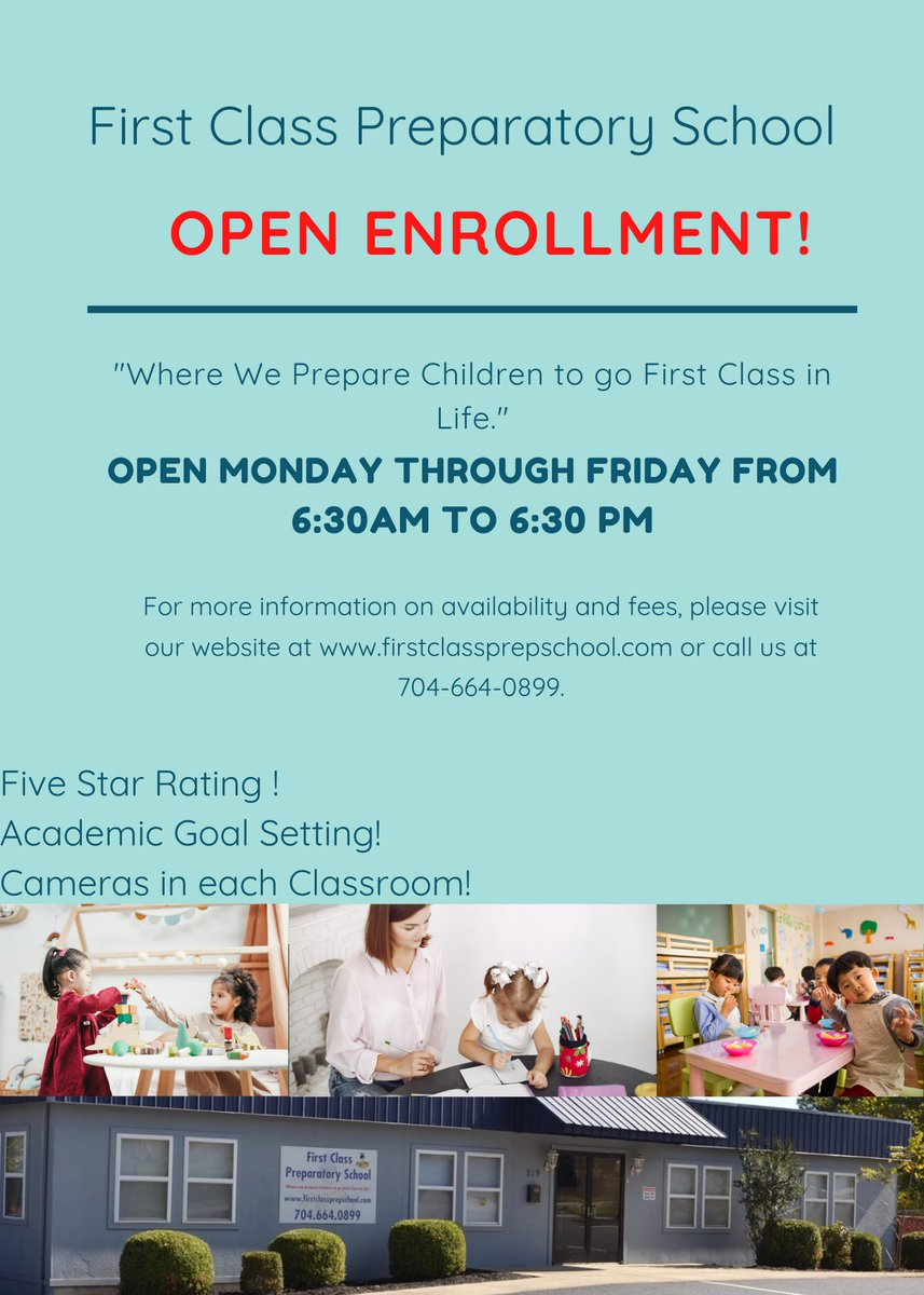 Celebrating members First Class Preparatory School! Providing quality care to young children, encouraging them to grow & develop to their full potential  . . . #businessnews #smallbusiness #supportlocalbusiness #marketing #mooresville #lakenorman #education