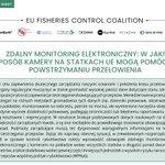 Image for the Tweet beginning: Zdalny elektroniczny monitoring rybołówstwa dostarcza