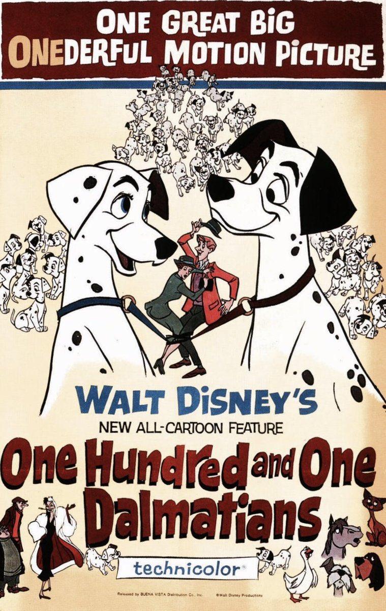 """Hoy hace 60 años que se estrenó la maravillosa película de Walt Disney, """"101 Dálmatas""""."""