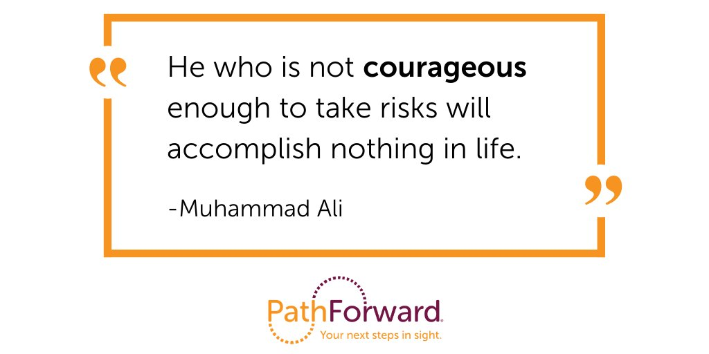 Remember a time you needed to be brave to reach a goal? Celebrate it! And share your experience in the comments. #mondaymotivation