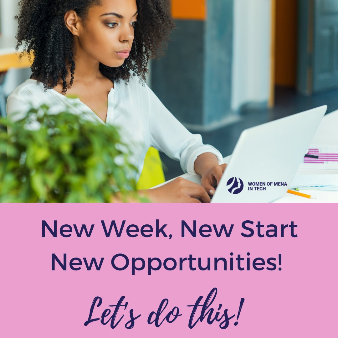💥New Week, New Start, New Opportunities! Let's do this! . . . #womenofMENAintechnology #persianwomenintech #MondayMotivation #NewMondayNewWeek #Workhard #Sparkle #womeninstem #stemeducation #mentoring #technology #math #engineering  #mondaymood #mondaymorning #motivationmonday