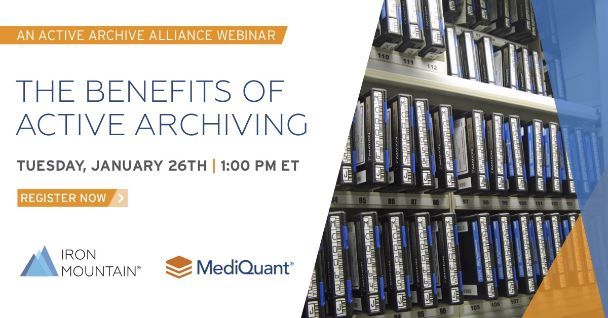 There's still time to register! Join us tomorrow for our #datamanagement #webinar with @IronMountain to learn about active archiving.