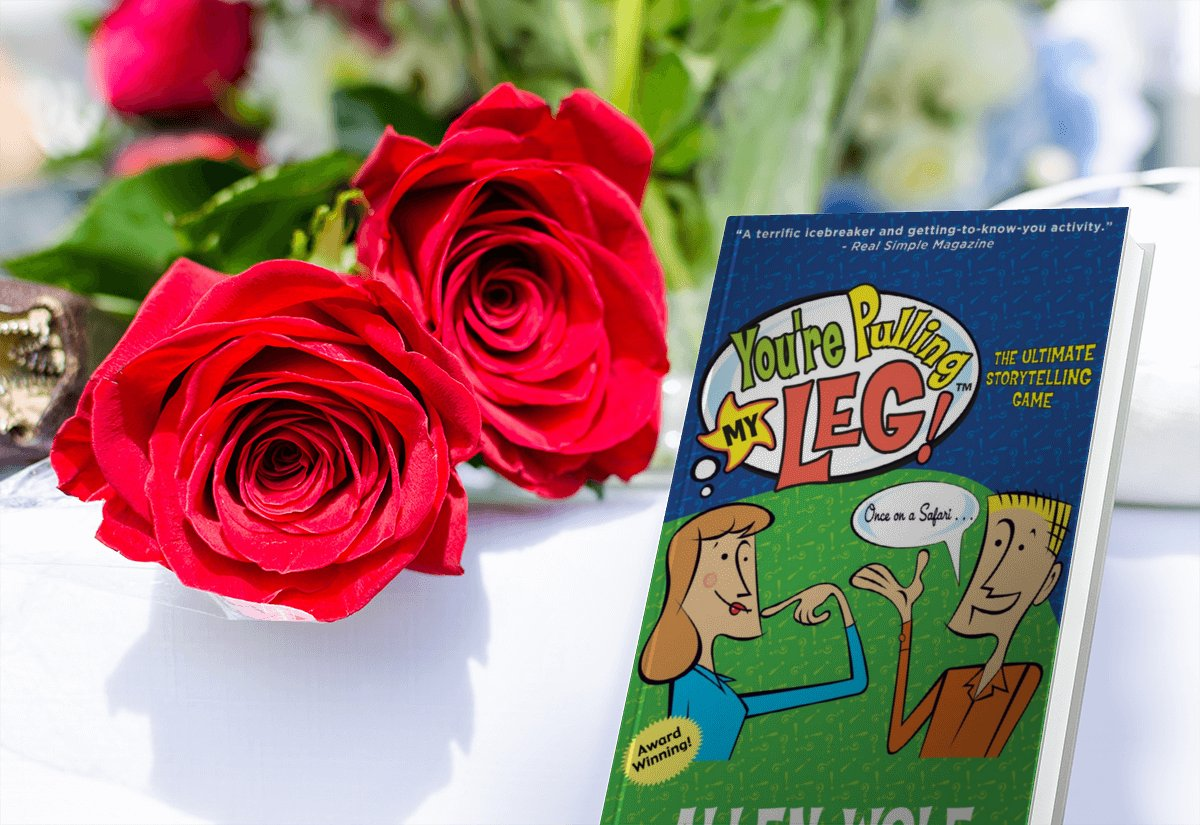 Step 1: Roses. Step 2: You're Pulling My Leg! game book. Step 3: Feel the love. Valentine's Day is coming up. Get ready. #valentine #love #valentinesday #valentines #gift  #valentineday #valentinegift #gifts #like #art #anniversary #flowers #giftideas